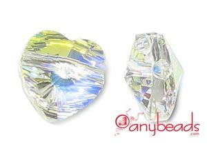 Crystal AB Swarovski Crystal Elements 5742 Heart Bead 10mm  #CrystalAB #Swarovski #SwarovskiCrystal #bead #5754 #jewelrysupplies #anybeads
