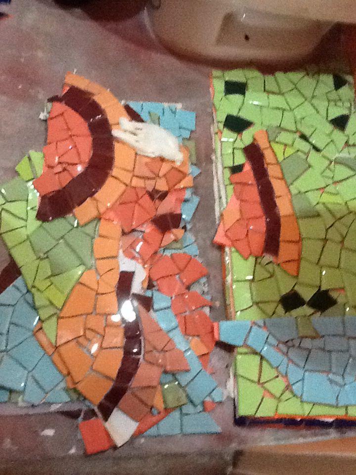 Mosaico ducha baño