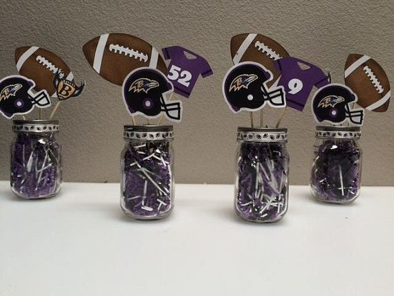 Football Themed Centerpieces – Super Bowl Party Centerpiece – Fantasy Football Party – Sports Banquet Centerpieces – Football Baby Shower