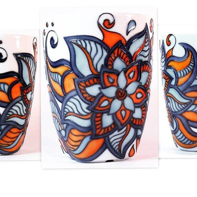 Еще моя оранжево-синяя кружка,люблю ее) #mug #happymug #tilepainting #tile #glassart #glasspainting #kruzhka #кружканазаказ #кружка #посуда #посударучнойработы #роспись #росписьпосудыназаказ #росписьстекла #росписьпостеклу #handmade #hand_made
