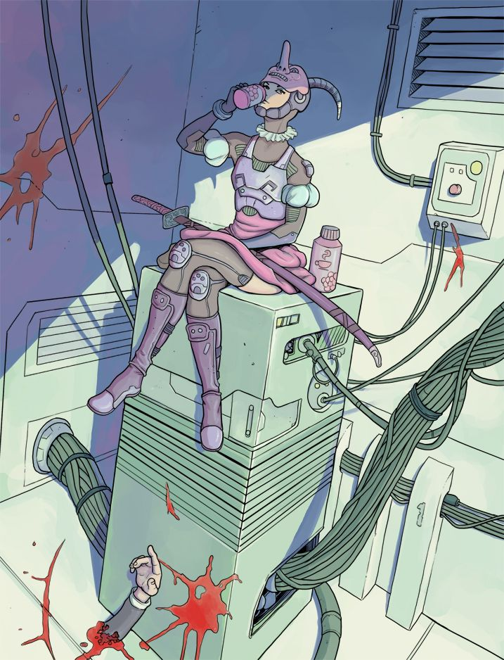 Guardian of the server room by Nuclearpasta.deviantart.com on @DeviantArt