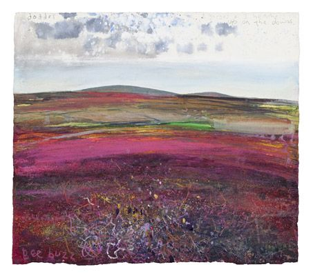 Kurt Jackson | This Place: St Just in Penwith Exhibition, Two gorses and three feathers 2011
