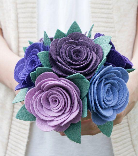 Felt Bouquet Wedding Bouquet Alternative by SugarSnapBoutique, $52.00