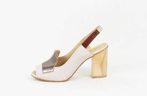 &Attorney Isa Heel in Ivory + Pewter