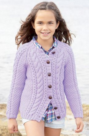 dc98147ea9fa Girl s and Boy s Cardigans in Sirdar Supersoft Aran - 2383 ...