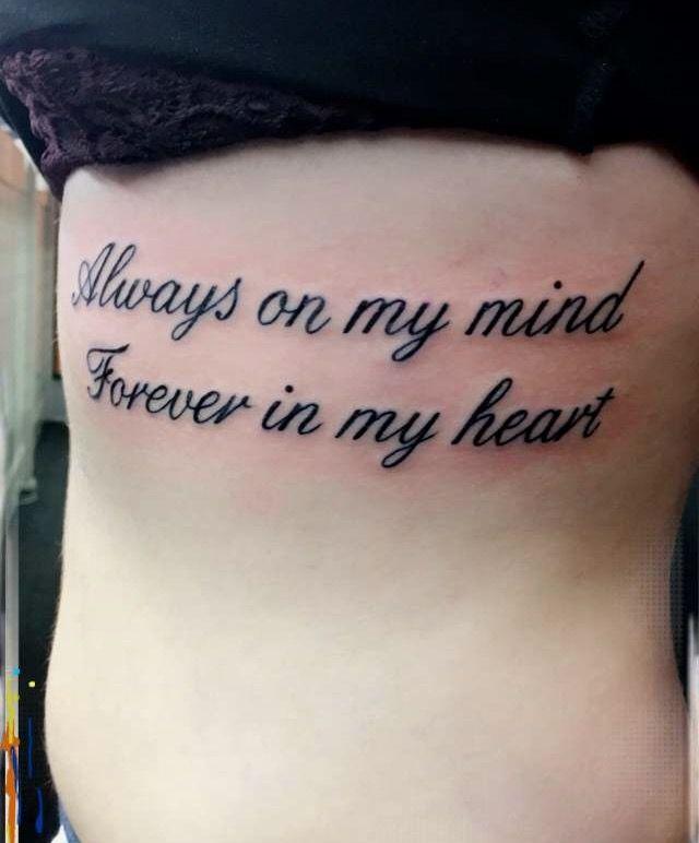 Always My Mind Forever My Heart Tattoo Designs