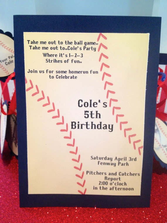 Baseball party invatations- for zach's barmitzvah