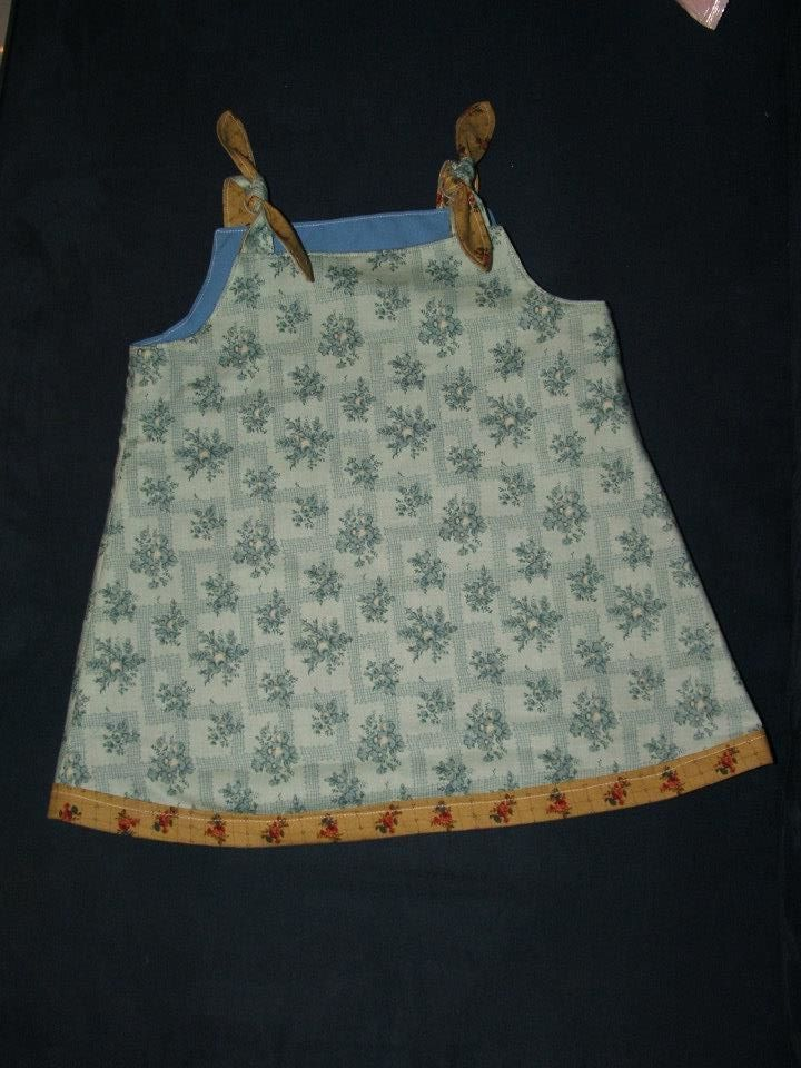 Double-sided pinafore for my baby neice. Reverse side. 2012
