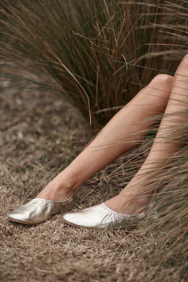 winter 2016 collection: sassind melbourne.  leather high line ballet slipper $129  photographer: nikole ramsay hair + makeup: kate radford