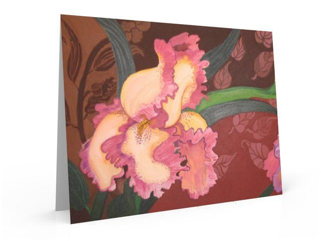 Iris in Neighbors Garden, note card and greeting card