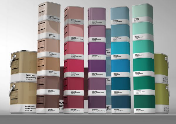 Check out this mega cool concept for Pantone wall paint packaging by the French designer Samy Halim.: Design Ideas, Pantone Design, Packaging Design, Google Search, Pantone Style, Pantone Paintings, Paintings Packaging, Creative Packaging, Pantone Wall