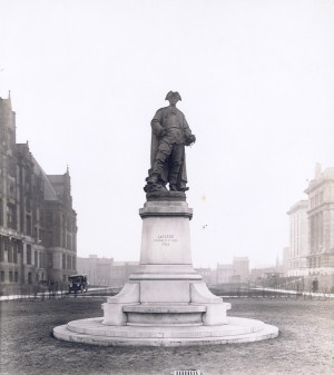 Statue of Laclede, St. Louis City Hall. Presented to the city in 1909 by the St. Louis Centennial Association. (1928) Missouri History Museum