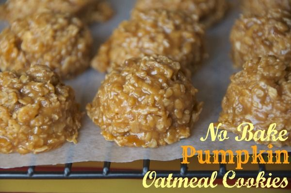 "I just tried these No bake pumpkin cookies tonight and they are delicious!!! If you aren't a pumpkin fan, you would still enjoy them! The only ""pumpkin"" thing about them is the pumpkin pie spice, but its mainly vanilla puddin'. YUM! #freezercooking #pumpkin #cookies"