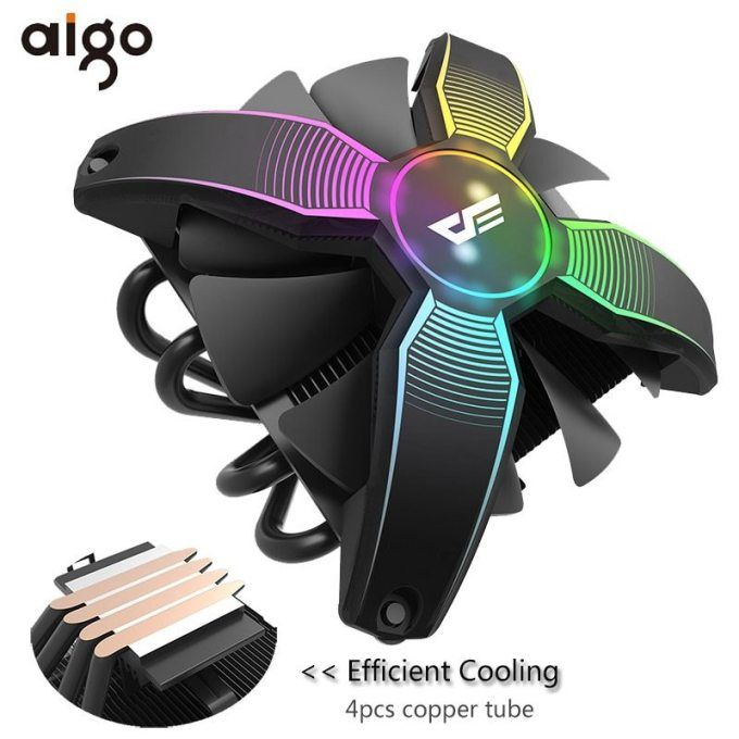 Aigo Cpu Cooler Radiator Tdp 280w Heat Sink Silent 120mm 4pin Pc