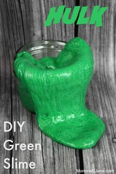This green slime tutorial is fun for kids and a great St. Patrick's Day activity!