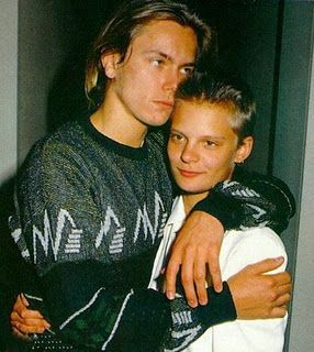River Phoenix & Martha Plimpton--he made her go vegetarian by crying when she ate meat near him!