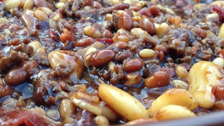 Party Beans | Recipe | Casserole dishes, Beans and Casserole