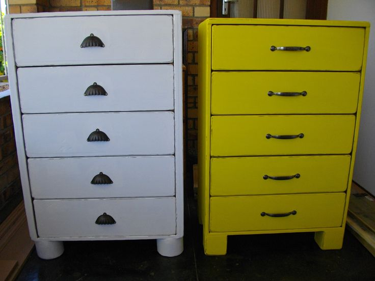 (RS 162A White & 162B Yellow) Rustic Chest Of Draws                                     L800 x W450 x H1000 mm. Price R3 600 each for this size. E-mail humanr@telkomsa.net for a current exclusive pricelist with photos and measurements.