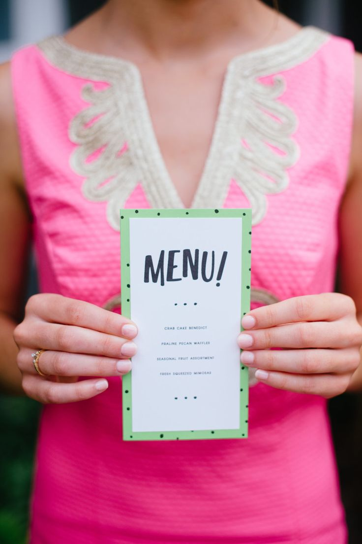 「MENU!」の文字がカジュアルでキュート♡ グリーンのメニュー表まとめ。センスがいい結婚式のメニュー表一覧。