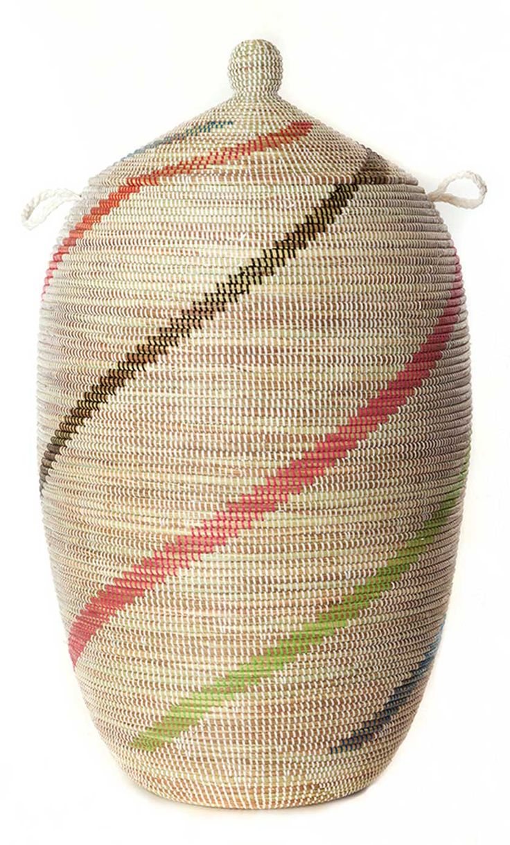 Gorgeous, one-of-a-kind basket made by a master weaver in