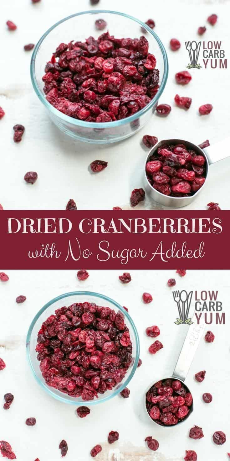 sugar free dried cranberries can be difficult to find. but, it's
