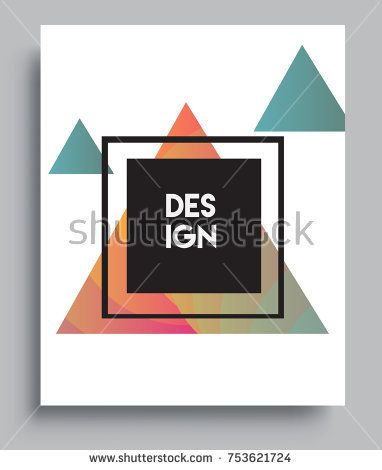 Cover design template with liquid color, arrangement of abstract lines and style graphic geometric elements. Applicable for placards, brochures, posters, covers and banners. Vector Design