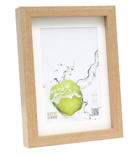 Deknudt Frames Basic, eikkleur hoog profiel in hout (MDF) met pptt - bestelmaat=kadermaat fotomaat 40x50 cm
