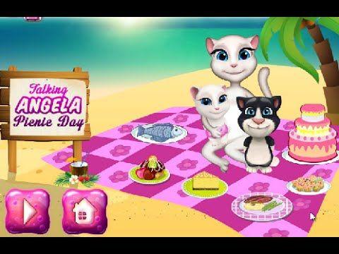 Игры для детей Говорящая Анжела на пикнике (Talking Angela on picnic) играть онлайн https://youtu.be/KQXqO3TSeeQ