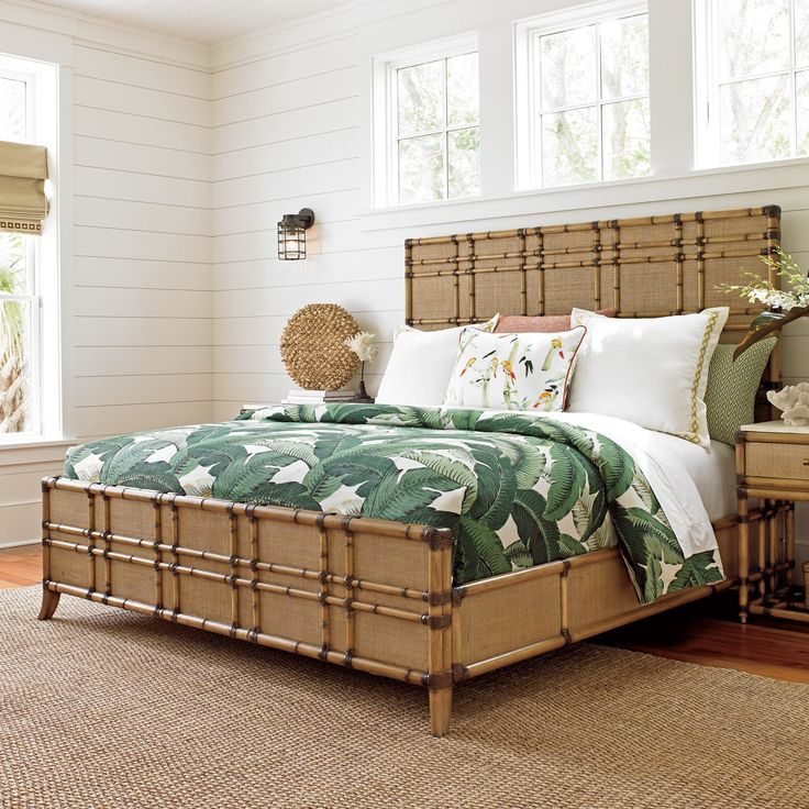 Tommy Bahama Twin Palms by Lexington Coco Bay Panel Bed - 01-0558-133C