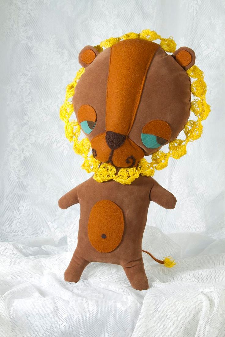 Marinsss  Sleepy Bear That Wanted To Be A Lion Brown And Yellow  #handmadedolls