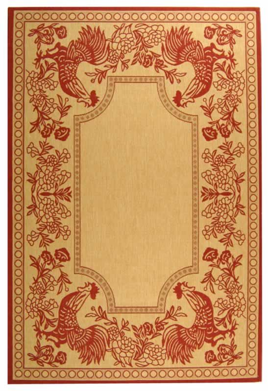 Area Rug Country French Style Rattan W Stecil