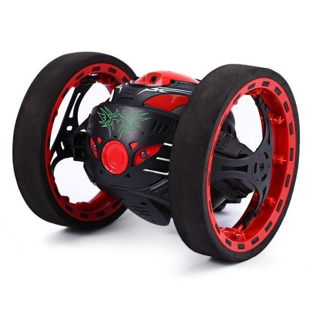 Mini Bounce Car PEG SJ88 RC Car 4CH 2.4GHz Strong Jumping Sumo Toy Car with Flexible Wheels Remote Control Robot