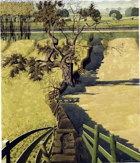 """""""Wensley in the Dale"""" by Simon Palmer (watercolour with ink and gouache)"""