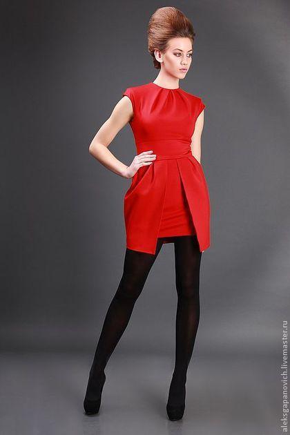Платья ручной работы. Ярмарка Мастеров - ручная работа. Купить Платье красное. Handmade. Повседневное платье, стильное платье
