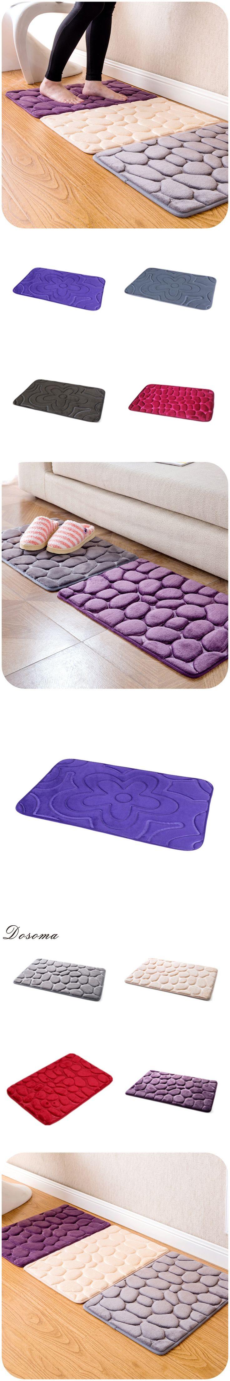 40*60cm 3D Stone Non-Slip Bedroom Carpets Toilet Accessories Mat Bathroom Rug 4 Colors Banyo Paspas Tapis Salle De Bain
