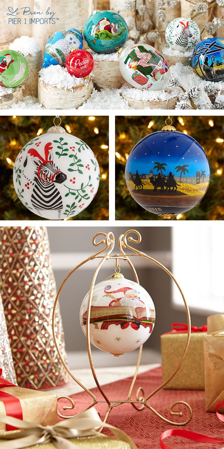 Pier1's Exclusive Li Bien Ornaments Are Meticulously Handpainted By  Artists Inserting An L