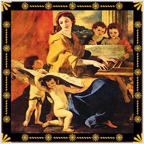 Santa cecília - Quadrinhos confeccionados em Azulejo no tamanho 15x15 cm.Tem um ganchinho no verso para fixar na parede. Inspirados em santos católicos. Para entrar em contato conosco, acesse: www.babadocerto.com.br