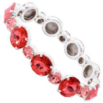 Bratara cu cristale rosii http://www.bijuteriifrumoase.ro/cumpara/rivoli-chaton-elastic-bracelet-12-ss34-rosie-3249