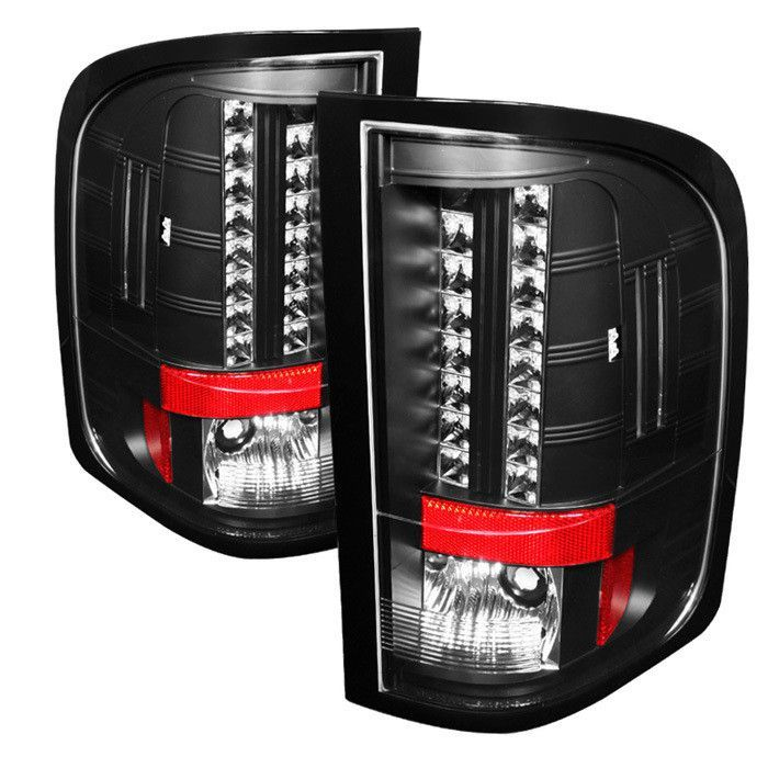 ( Spyder ) Chevy Silverado 1500/2500/3500 2010 ( Does Not Fit Model With Single Reverse Socket 3047 Bulb ) LED Tail Lights - Black