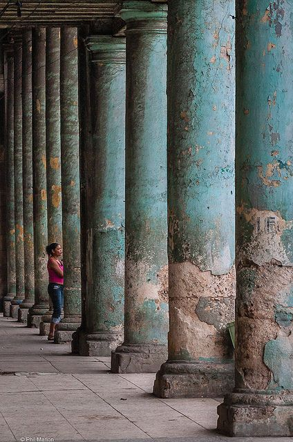 Weathered columns in Havana, Cuba by Phil Marion, on Flickr