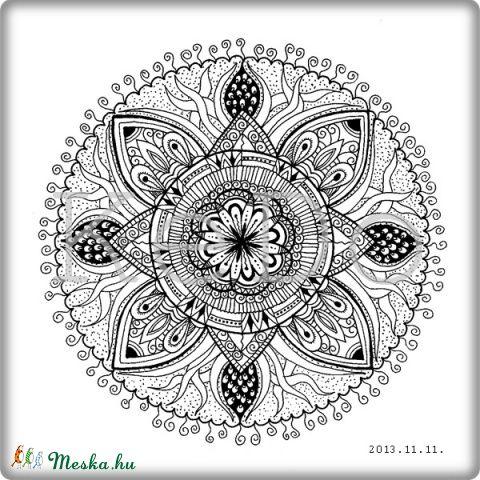 Meska - ZENdülő mandala 2 - nyomtatható színezőlap kedo kézművestől