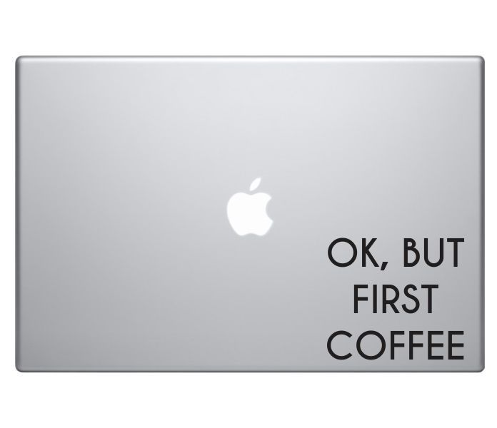 57 best car accessories images on pinterest auto accessories ok but first coffee macbook decal sticker skin laptop pro air funny text apple sciox Gallery