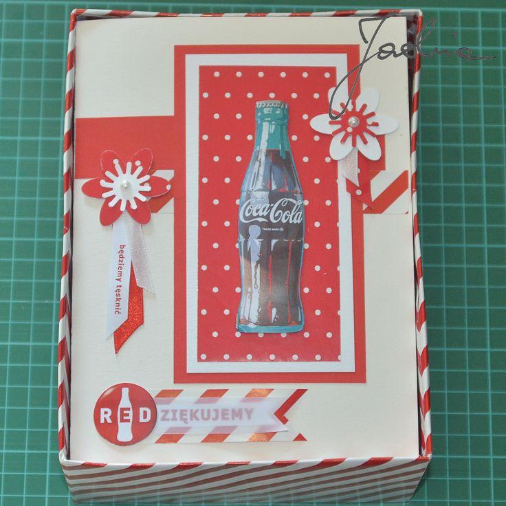 kartka R E Dziękujemy, coca cola