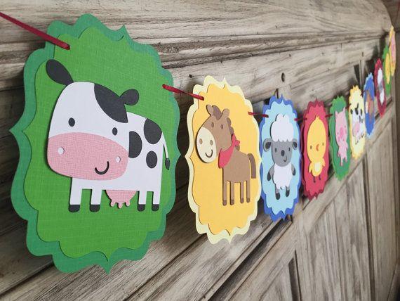 Banner de la granja Cumpleaños de la granja por EricasCrafties                                                                                                                                                                                 Más