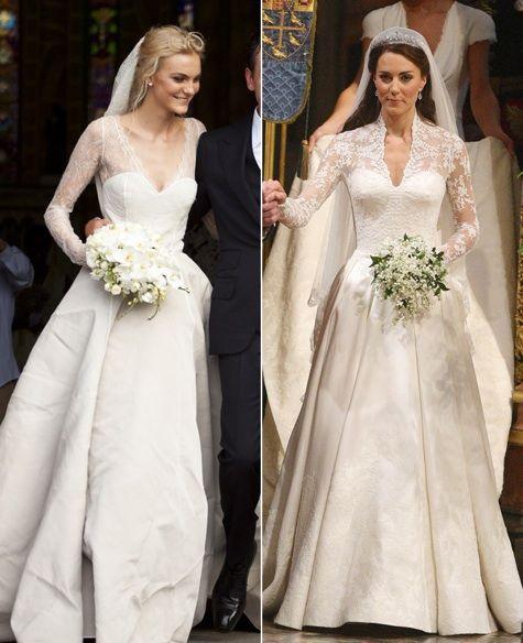 Celebrity Weddings 2019: Caroline Trentini Wedding Dress