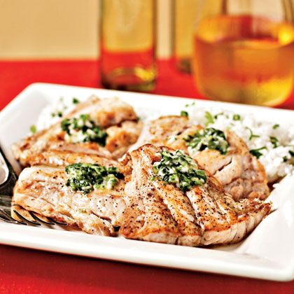 Broiled Red Snapper with Ginger-Lime Butter Recipe | MyRecipes.com Mobile