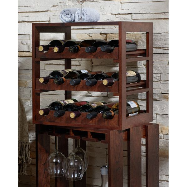 Downey 15-Bottle Tabletop Wine Rack