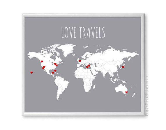Mappa del mondo viaggio  Kit fai da te comprende adesivi