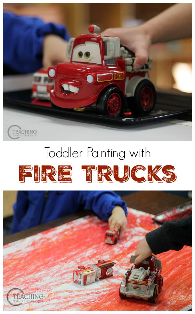 painting with fire trucks - Toddler Painting Games