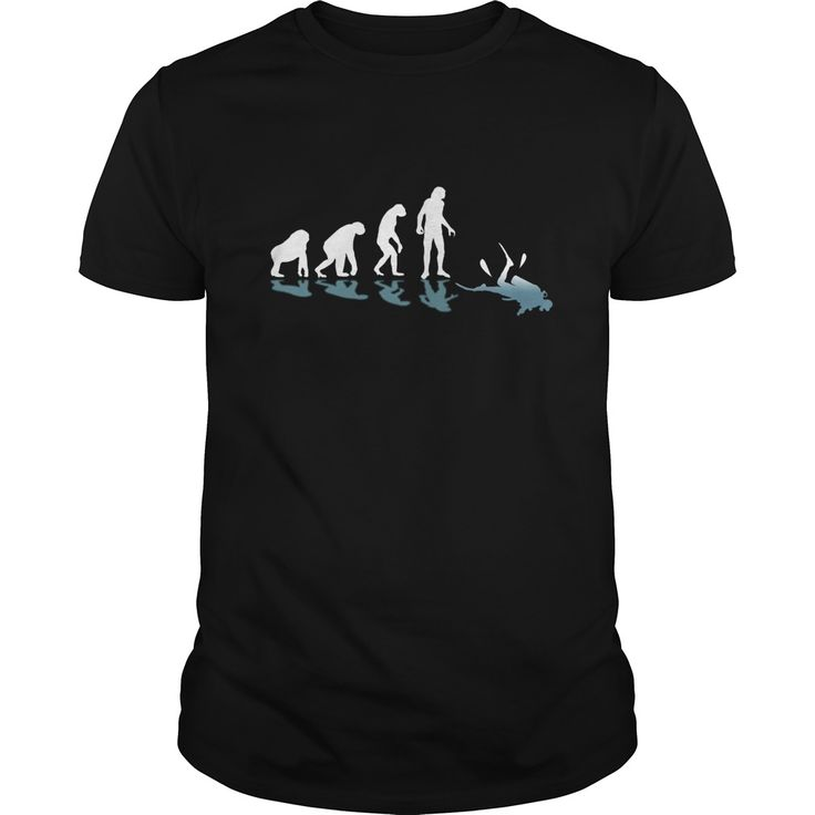 Scuba Diving Evolution Great Gift For Any Scuba Diver Fan. Cool, Clever, Funny Outdoor Quotes, Sayings, T-Shirts, Hoodies, Sweatshirts, Tees, Clothing, Coffee Mugs, Gifts.